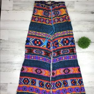 Flying Tomato Multicolor Pants Wide Leg Size L
